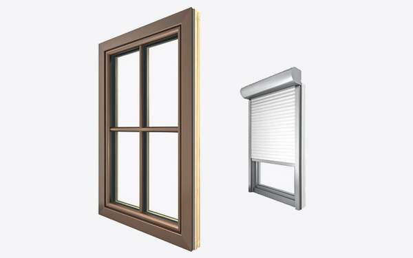 runde Kanten, runder Fensterrahmen, runder Fensterflügel, Fenster außen, Außenansicht Fenster, profiliert, rund, Griff, Fenstergriff, Kunststoff, Kunststoff-Fenster