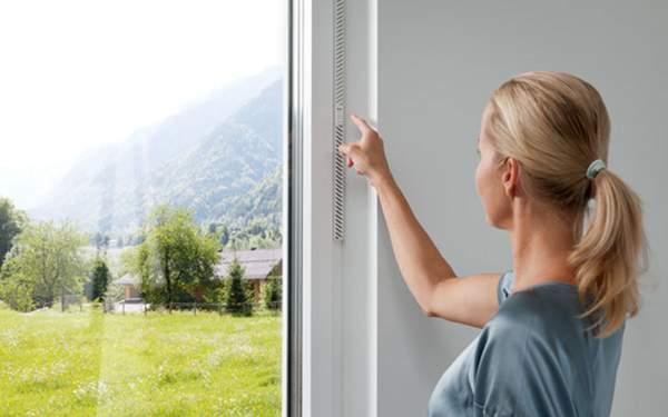 Internorm I-tec vetranie, vetranie miestností, rekuperácia v okne,