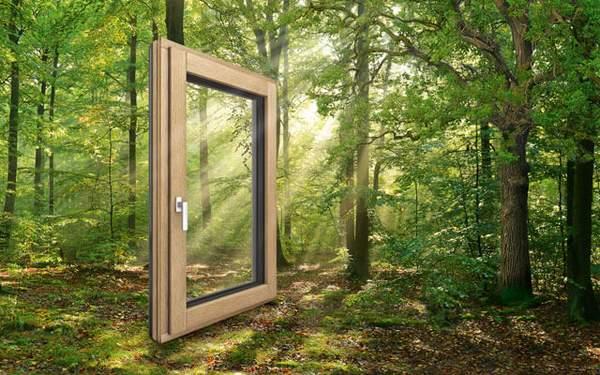 HF410 Internorm okno les/aluminij