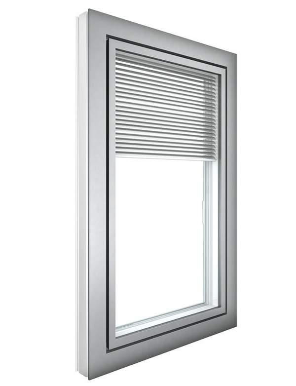 Verbundfenster, integrierter Sonnenschutz, integrierter Sichtschutz, Jalousie zwischen den Scheiben