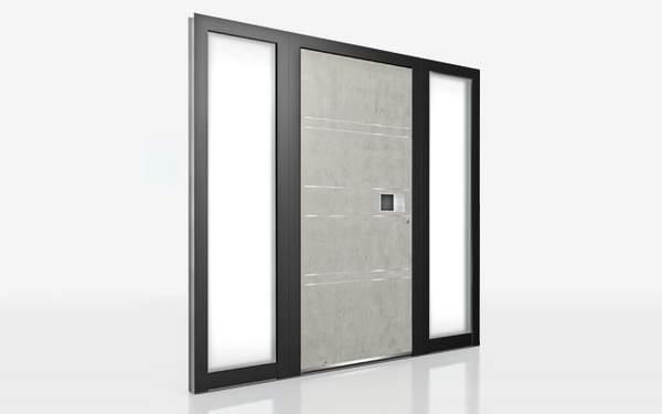 Tür, Haustür, Seitenteil, Glasseitenteil, Holz/Alu, Aluminium, Möglichkeiten bei Haustüren, Seitenteile bei der Haustür