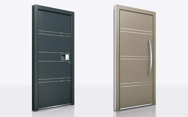 Tür, Haustür, Lisenen, Nut, Holz/Alu, Aluminium, Möglichkeiten bei Haustüren
