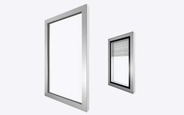 flächenbündig, Fenster außen, Außenansicht Fenster, geradlinig, Griff, Fenstergriff, Kunststoff, Kunststoff-Fenster